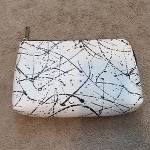 White cosmetics bag